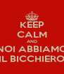 KEEP CALM AND NOI ABBIAMO IL BICCHIERO - Personalised Poster A4 size