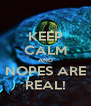 KEEP CALM AND NOPES ARE REAL! - Personalised Poster A4 size