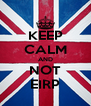 KEEP CALM AND NOT EIRP - Personalised Poster A4 size