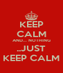 KEEP CALM AND... NOTHING ..JUST KEEP CALM - Personalised Poster A4 size