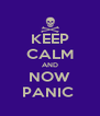 KEEP CALM AND NOW PANIC  - Personalised Poster A4 size