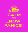 KEEP CALM AND ...NOW  PANIC!!!! - Personalised Poster A4 size