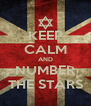KEEP CALM AND NUMBER THE STARS - Personalised Poster A4 size