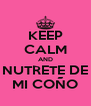 KEEP CALM AND NUTRETE DE MI COÑO - Personalised Poster A4 size