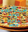 KEEP CALM AND NYAM PIZZA HOT - Personalised Poster A4 size