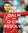 KEEP CALM AND O CR7 RESOLVE - Personalised Poster A4 size