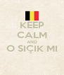 KEEP CALM AND O SIÇIK MI  - Personalised Poster A4 size