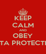 KEEP CALM AND OBEY DATA PROTECTION - Personalised Poster A4 size