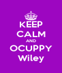 KEEP CALM AND OCUPPY Wiley - Personalised Poster A4 size