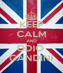 KEEP CALM AND ODIO  GANDINI - Personalised Poster A4 size