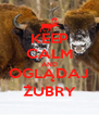 KEEP CALM AND OGLĄDAJ ŻUBRY - Personalised Poster A4 size
