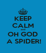 KEEP CALM and OH GOD  A SPIDER! - Personalised Poster A4 size