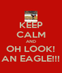KEEP CALM AND OH LOOK! AN EAGLE!!! - Personalised Poster A4 size