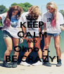 KEEP CALM AND Okno .-. BE CRAZY! - Personalised Poster A4 size