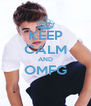 KEEP CALM AND OMFG  - Personalised Poster A4 size