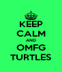 KEEP CALM AND OMFG TURTLES - Personalised Poster A4 size