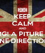 KEEP CALM AND OMG! A PITURE OF ONE DIRECTION! - Personalised Poster A4 size