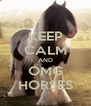 KEEP CALM AND OMG HORSES - Personalised Poster A4 size