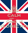 KEEP CALM AND........  OMG  IS ONE DIRECTION!! - Personalised Poster A4 size