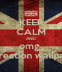 KEEP CALM AND omg  ond irection wallpapper - Personalised Poster A4 size