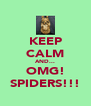 KEEP CALM AND... OMG! SPIDERS!!! - Personalised Poster A4 size
