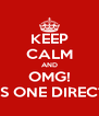 KEEP CALM AND OMG! THAT'S ONE DIRECTION? - Personalised Poster A4 size