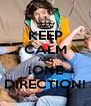 KEEP CALM AND ¡ONE DIRECTION! - Personalised Poster A4 size