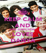 KEEP CALM AND ONE DIRECTION  LOVES DANYA - Personalised Poster A4 size