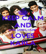 KEEP CALM AND ONE DIRECTION  LOVES KARLA - Personalised Poster A4 size