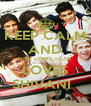 KEEP CALM AND ONE DIRECTION  LOVES SHIVANI   - Personalised Poster A4 size