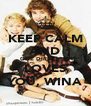 KEEP CALM AND ONE DIRECTION LOVES YOU, WINA - Personalised Poster A4 size
