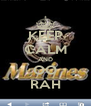 KEEP CALM AND OO RAH - Personalised Poster A4 size