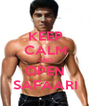 KEEP CALM AND OPEN SAFAARI - Personalised Poster A4 size