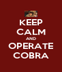 KEEP CALM AND OPERATE COBRA - Personalised Poster A4 size