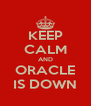 KEEP CALM AND ORACLE IS DOWN - Personalised Poster A4 size