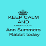 KEEP CALM  AND ORDER YOUR   Ann Summers    Rabbit today - Personalised Poster A4 size