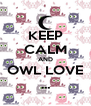 KEEP CALM AND OWL LOVE ... - Personalised Poster A4 size