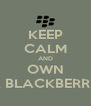 KEEP CALM AND OWN A BLACKBERRY - Personalised Poster A4 size