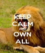 KEEP CALM AND OWN ALL - Personalised Poster A4 size