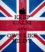 KEEP CALM AND OWN LIKE HILDY - Personalised Poster A4 size