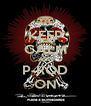 KEEP CALM AND P-ROD ON - Personalised Poster A4 size