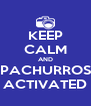 KEEP CALM AND PACHURROS ACTIVATED - Personalised Poster A4 size