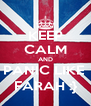 KEEP CALM AND PANIC LIKE  FARAH :} - Personalised Poster A4 size