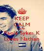 KEEP CALM AND Paola Sykes K Loves Nathan - Personalised Poster A4 size