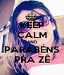 KEEP CALM AND PARABÉNS PRA ZÊ - Personalised Poster A4 size