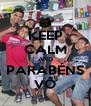 KEEP CALM AND PARABÉNS VÔ - Personalised Poster A4 size