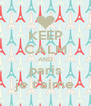 KEEP CALM AND paris je t'aime - Personalised Poster A4 size