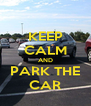 KEEP CALM AND PARK THE CAR - Personalised Poster A4 size