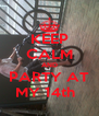 KEEP CALM AND PARTY AT MY 14th   - Personalised Poster A4 size