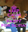 KEEP CALM AND PARTY FOR SILVIA! - Personalised Poster A4 size